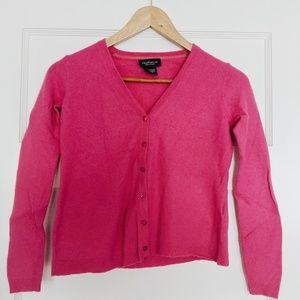 Pink cashmere cardigan sweater Lord and Taylor M